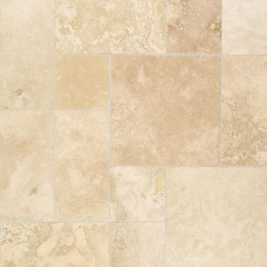 American Olean Natural Stone, Floor Tile, Travertine Collection, Multi-Color, 24x24