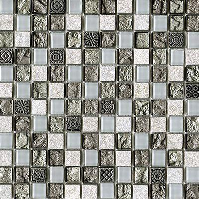 Porcelanosa Mosaics Tile, Techno, Multi-Color