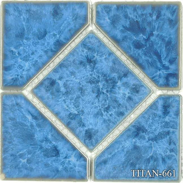 "Fujiwa Pool Tiles, Titan 600 Deco Series, Multi-color, 6"" x 6"""