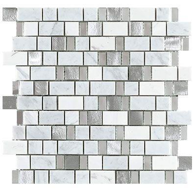 "Porcelanosa Mosaics Tile, Trend Tiles Porcelanosa USA Stripes White 12""*13"""