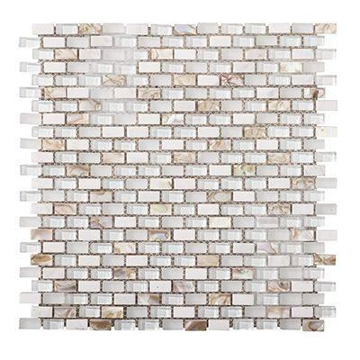 "Porcelanosa Mosaics Tile, Tribal Tiles Porcelanosa USA Pearl White 12""*13"""