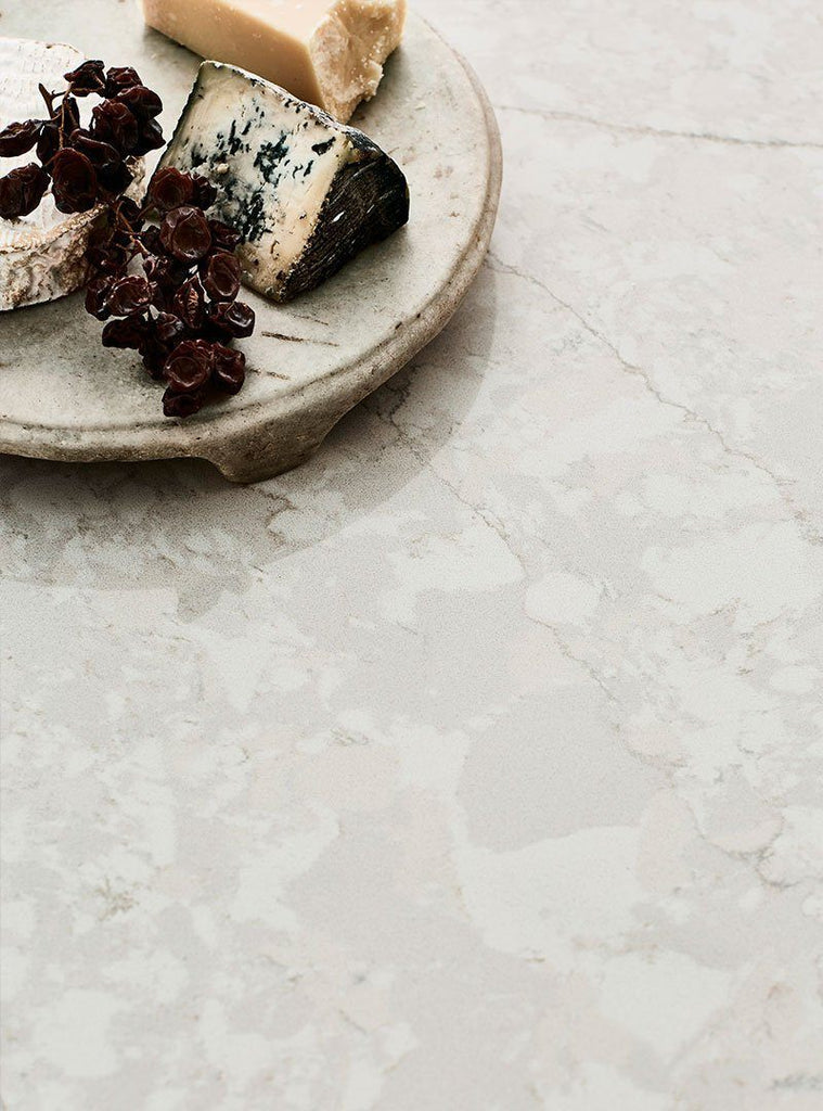 Vadara Quartz Slabs, Toledo Collection, Bianco Perla