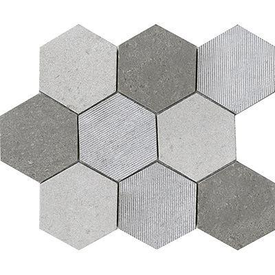 "Porcelanosa Mosaics Tile, World Hexagon Tiles Porcelanosa USA Hexagon Text 12""*8"""