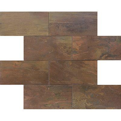 "Porcelanosa Mosaics Tile, Worn , Multi-Color Tiles Porcelanosa USA Copper 12""*12"""