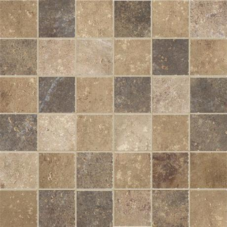 Marazzi Color Body Porcelain, Floor and Wall Tile, Walnut Canyon, Multi-Color