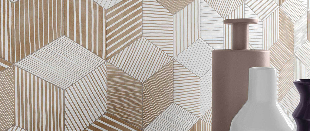 WOW Floor & Wall Tiles, Mud Collection, Mud Diamond Paths