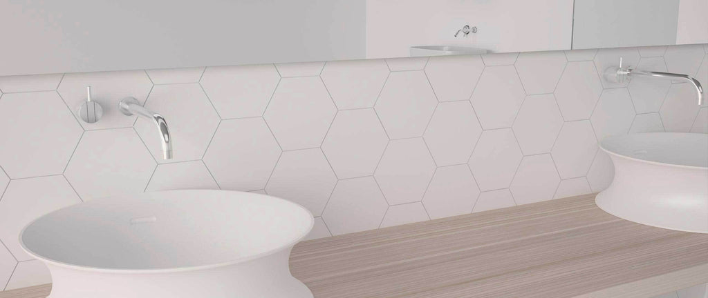 WOW Wall Tiles, Subway Lab Collection, Mini Hexa, Multi Color