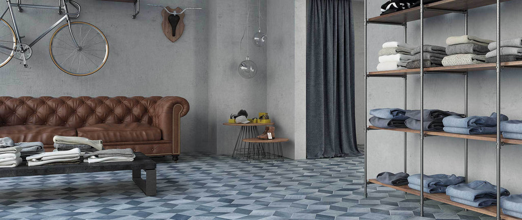 WOW Floor & Wall Tiles, Denim Collection, Denim Diamond, Multi Color