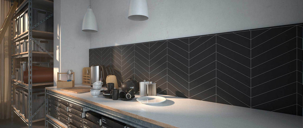 WOW Wall Tiles, Subway Lab Collection, Chevron, Multi Color