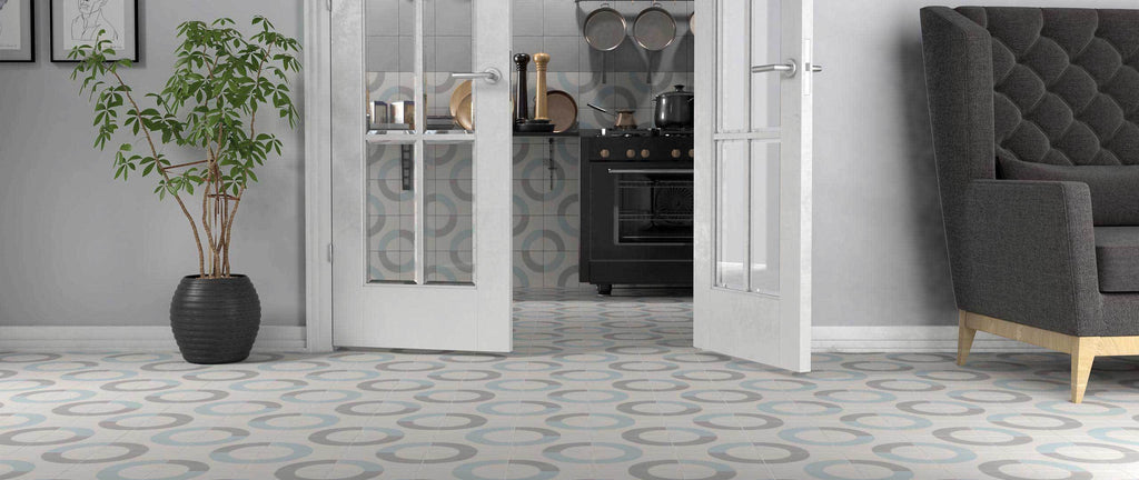 WOW Floor Tiles, Cement Collection, Loop Decor, Multi Color