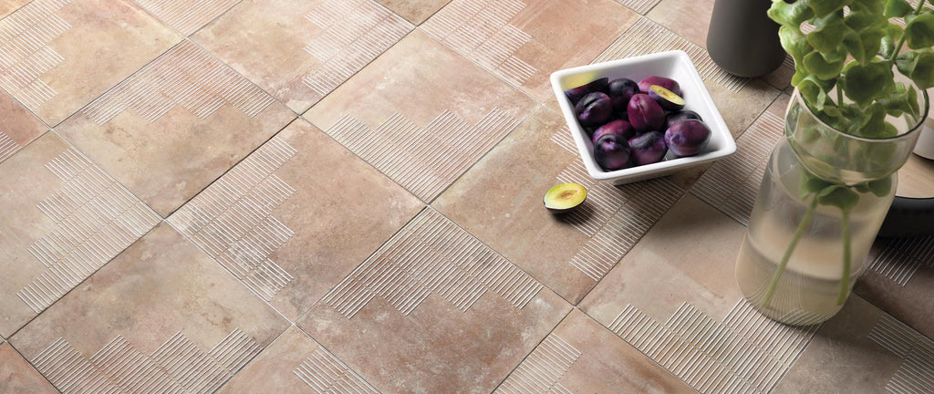 WOW Floor Tiles, Mestizaje Collection, Chateau Lines, Multi Color