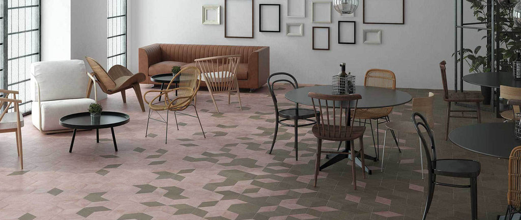 WOW Floor & Wall Tiles, Mud Collection, Mud Diamond, Multi Color