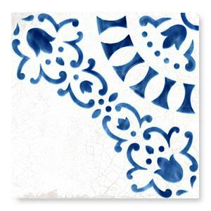 WOW Floor Tiles, Blanc et Bleu Collection, Antique Decor 1 Tiles Wow Designs Blanc