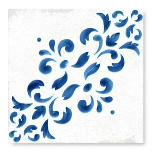 WOW Floor Tiles, Blanc et Bleu Collection, Antique Decor 2 Tiles Wow Designs Blanc