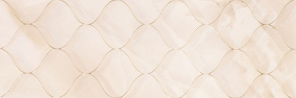 DUNE Wall and Floor Tiles, Ceramics, Arabesque Light, 11.8″ x 35.4″