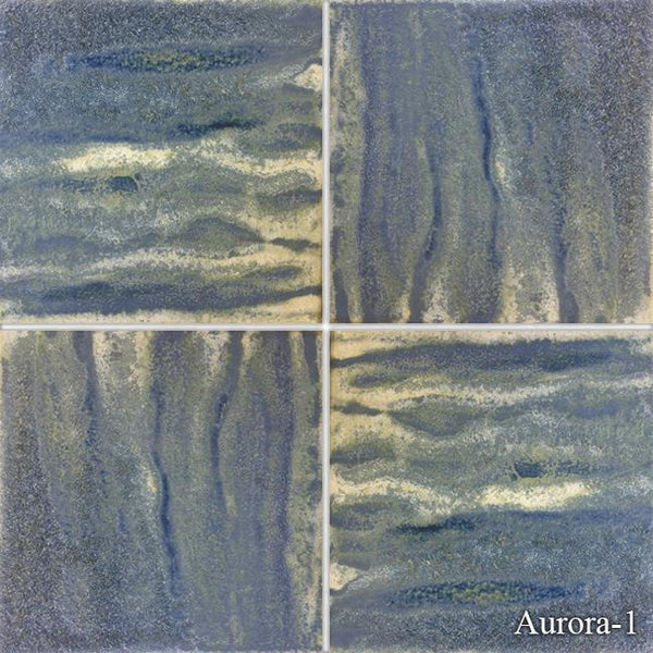 "Fujiwa Pool Tiles, Aurora Series, Aurora (Breeze Blue), 6"" x 6"""