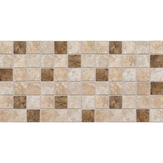 American Olean Glazed Ceramic Mosaic, Belmar Collection, Multi-Color, 12x24