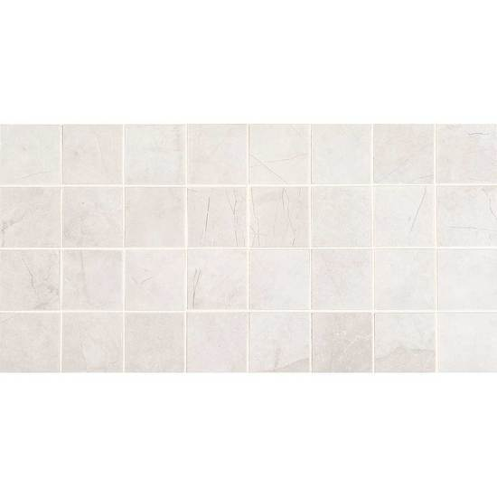 American Olean Glazed Ceramic Mosaic, Bevalo Collection, Multi-Color, 12x24