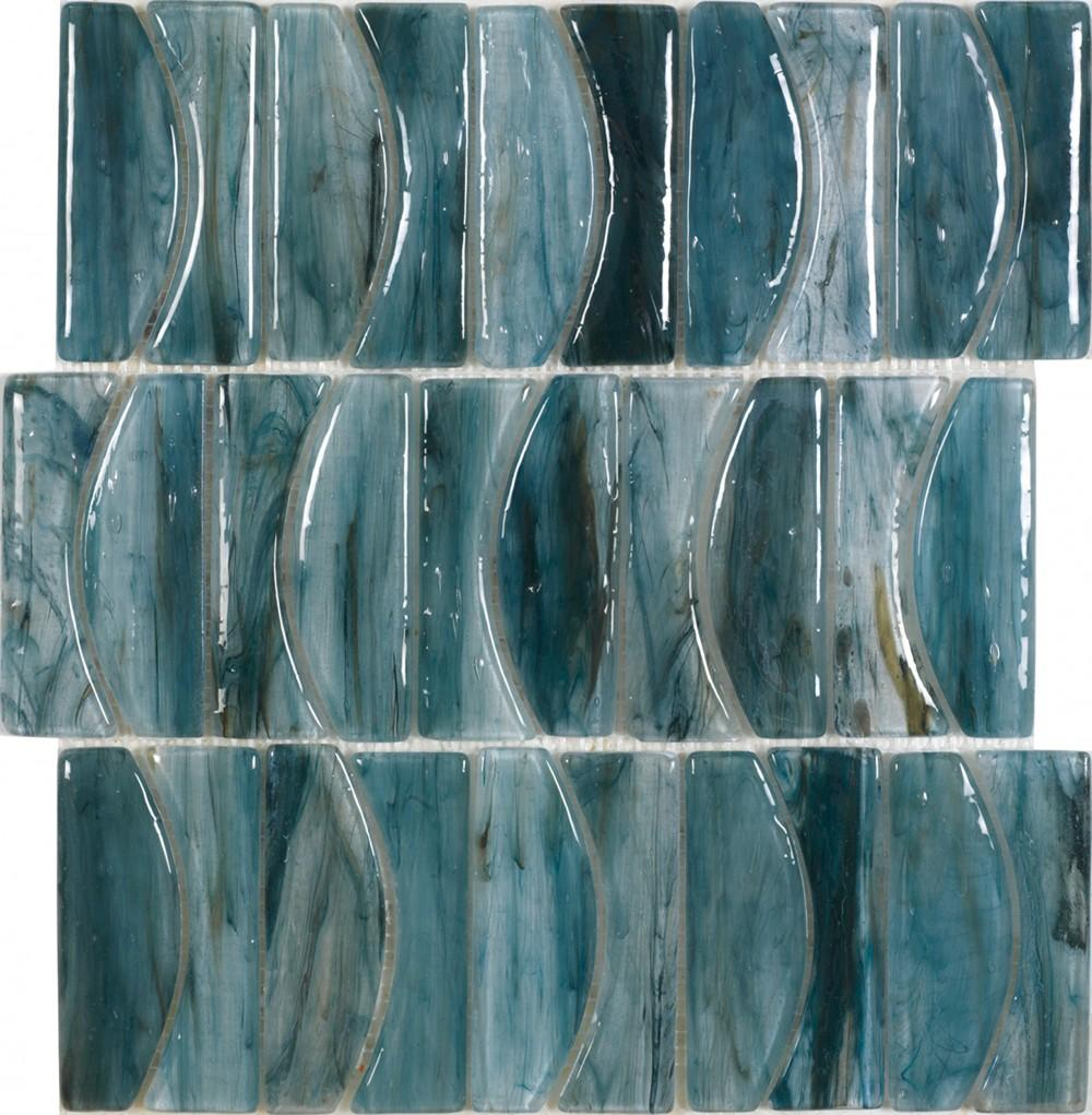 DUNE Mosaics, Glass, Blues, 11.9″ x 13.4″