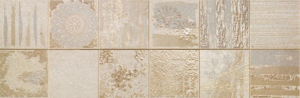 DUNE Wall and Floor Tiles, Ceramics, Collage Mist, 11.8″ x 35.4″