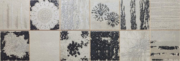 DUNE Wall and Floor Tiles, Ceramics, Collage Smoke, 11.8″ x 35.4″