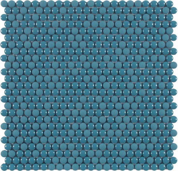DUNE Mosaics, Glass, Dots Blue, 11.1″ x 11.2″