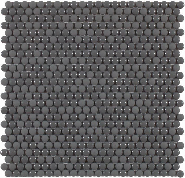 DUNE Mosaics, Glass, Dots Grey, 11.1″ x 11.2″