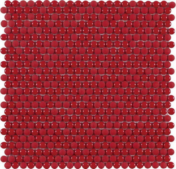 DUNE Mosaics, Glass, Dots Red, 11.1″ x 11.2″