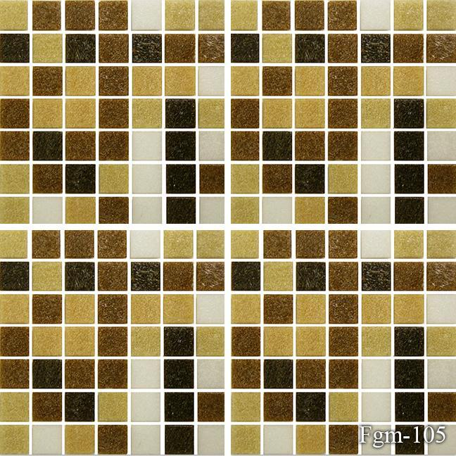 Fujiwa Pool Tiles, FGM Series, Multi-color, 3/4 x 3/4