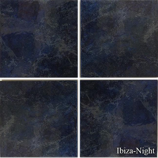 "Fujiwa Pool Tiles, Ibiza Series, Ibiza (Night), 6"" x 6"""