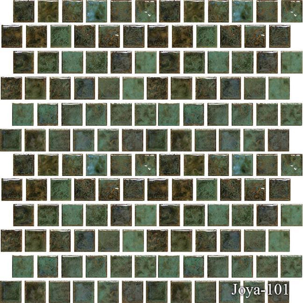 "Fujiwa Pool Tiles, Joya 100 Series, Multi-color, 1"" x 1"""