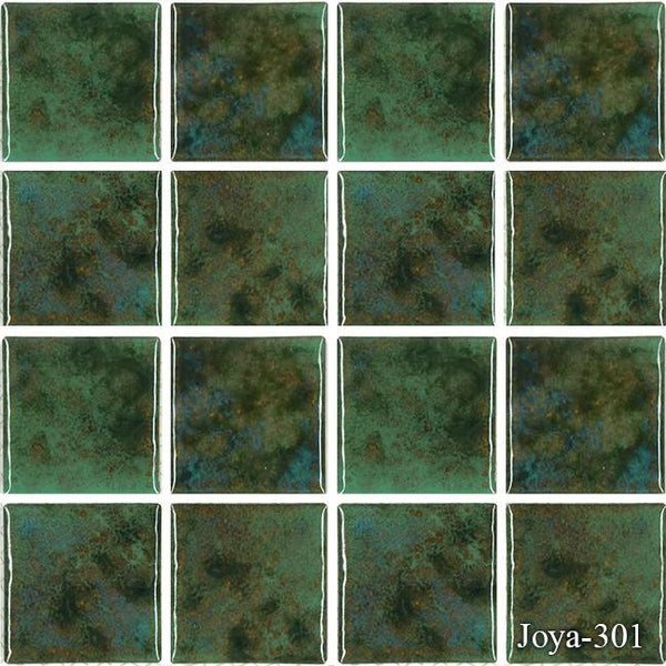 "Fujiwa Pool Tiles, Joya 300 Series, Multi-color, 3"" x 3"""