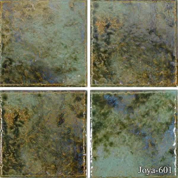 "Fujiwa Pool Tiles, Joya 600 Series, Multi-color, 6"" x 6"""