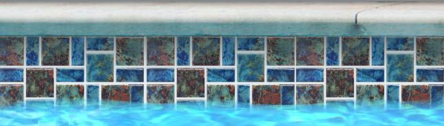 Fujiwa Pool Tiles, Legacy Random Pattern Series, Multi-color