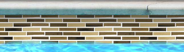 Fujiwa Pool Tiles, Lombo Series, Multi-color, 1/2 x 3-1/4