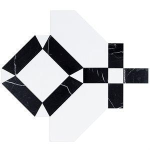 Soho Studio WaterJet Tiles, MJ Immaculata, Multi-Color, 16x16 Tiles Soho Studio Crystallized Porcelain Tile & Black Jade