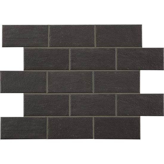 American Olean Paver Floor Tile, Bricktown Collection, Multi-Color, 4x8