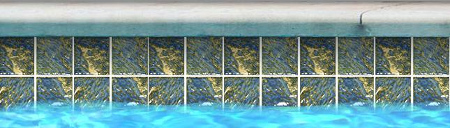 "Fujiwa Pool Tiles, Planet 300 Series, Multi-color, 3"" x 3"""