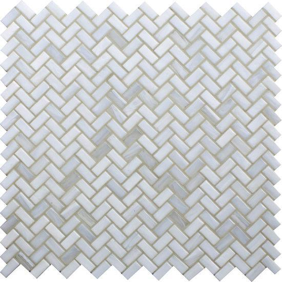 American Olean Herringbone Glass Mosaic Tile, Novelty Collection, Multi-Color, 12x12
