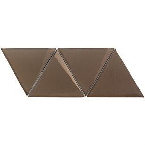 Soho Studio Glass Tile, Newbev Triangles, Multi-color, 5x12 Tiles Soho Studio Bronze