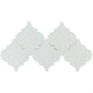 Soho Studio Ceramics Tiles, Terra Ignis, Multi-Color, 6x7 Tiles Soho Studio Floral Lantern Azure