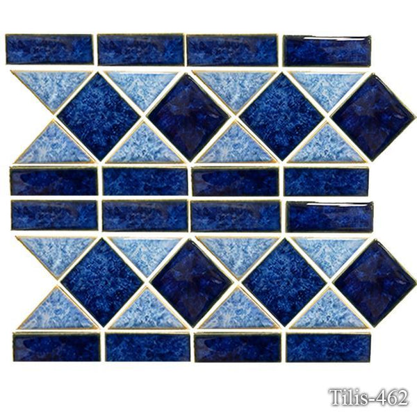 Fujiwa Pool Tiles, Tilis Series, Multi-color, 6 x 13-3/4