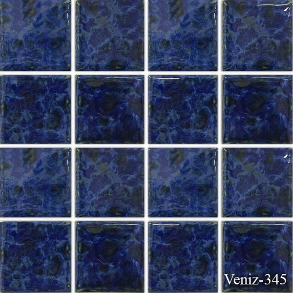 "Fujiwa Pool Tiles, Veniz 300 Series, Multi-color, 3"" x 3"""