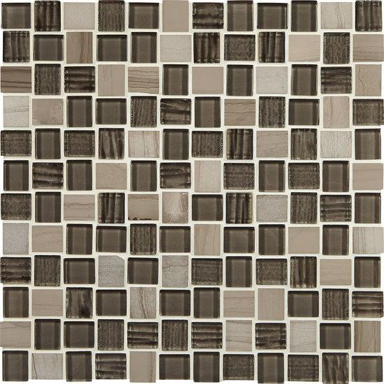 American Olean Offset Marble & Glass Mosaic Tile, Marble Weave Collection, Multi-Color, 12x12
