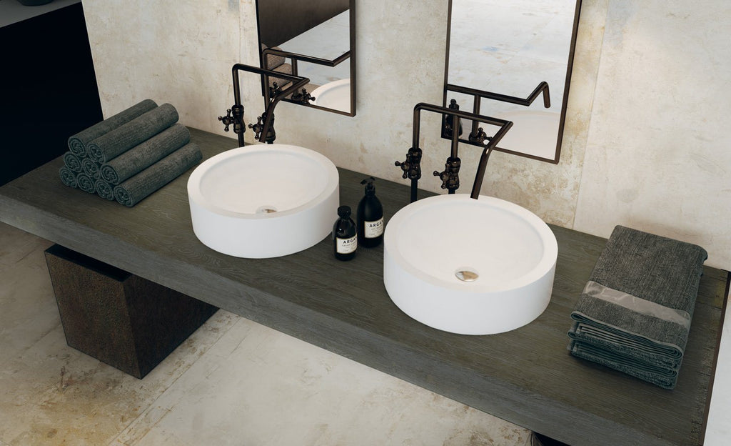Fondovalle, Action Collection, Concrete Look, Porcelain Stoneware Slabs, Light, Multi-size