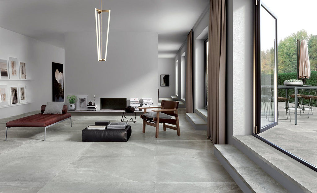 Fondovalle, Spaces Collection, Stone Look, Porcelain Stoneware Slabs, Light, Multi-size