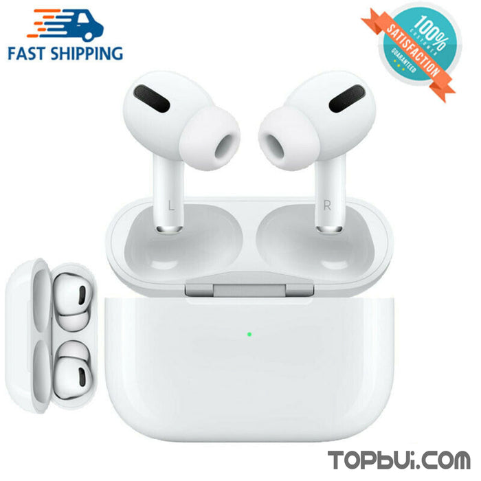 New TWS AirPods Pro Style Wireless Canal Noise Isolation Earbuds With Charger