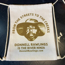 Load image into Gallery viewer, Donnell Rawlings 100% Hemp/Cotton Drawstring Bag