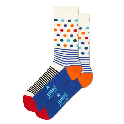 Chaussettes Pois Rayures pour homme bleues