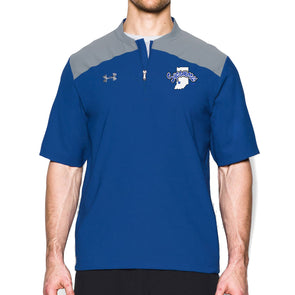 Indiana State Sycamores Under Armour® Triumph Short Sleeve Cage Jacket - Royal